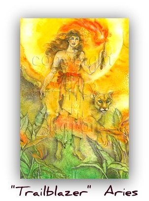 MOON EMANATIONS OF THE DIVINE FEMININE in ARIES or the FIRST